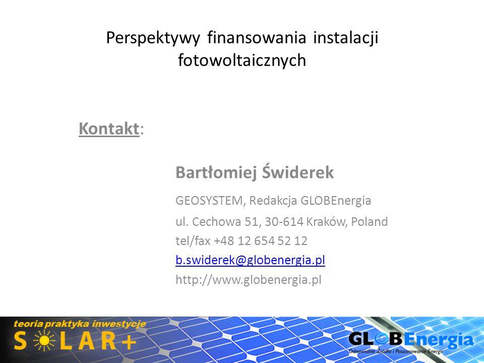 Perspektywy finansowania instalacji fotowoltaicznych