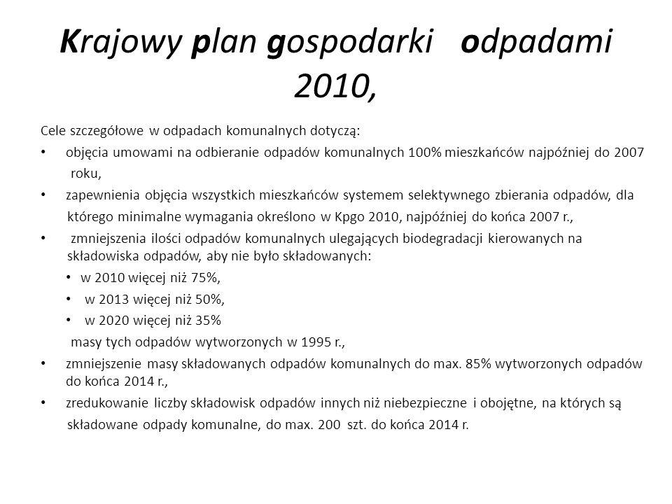 Krajowy plan gospodarki odpadami 2010,