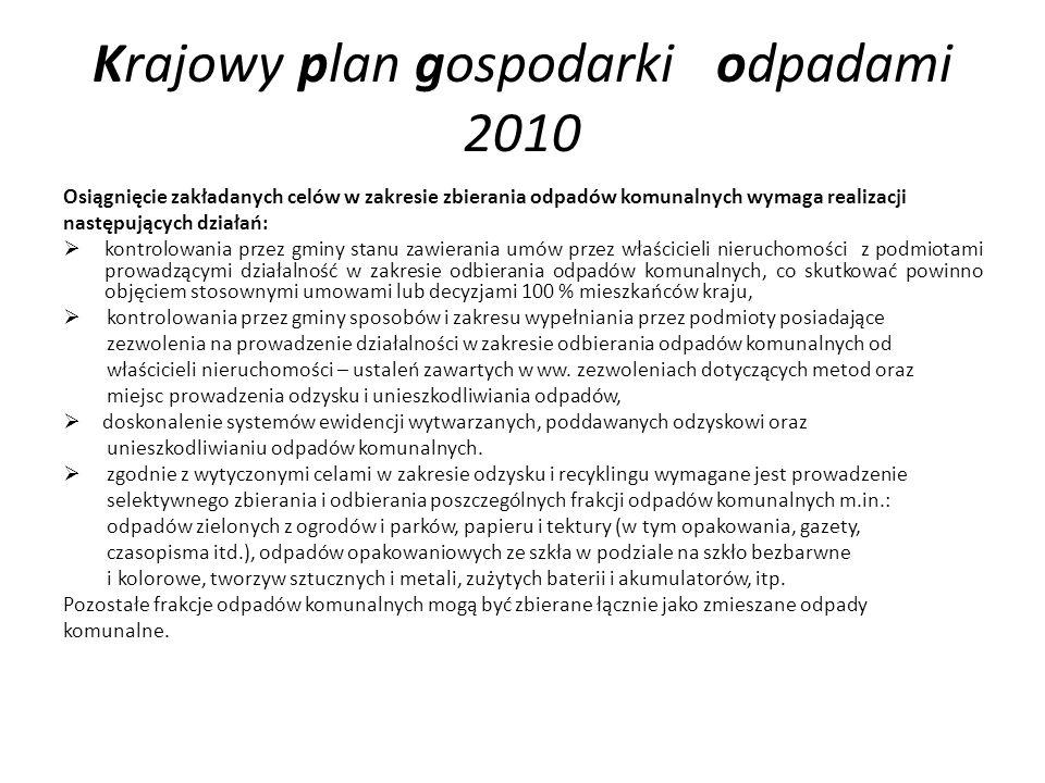 Krajowy plan gospodarki odpadami 2010