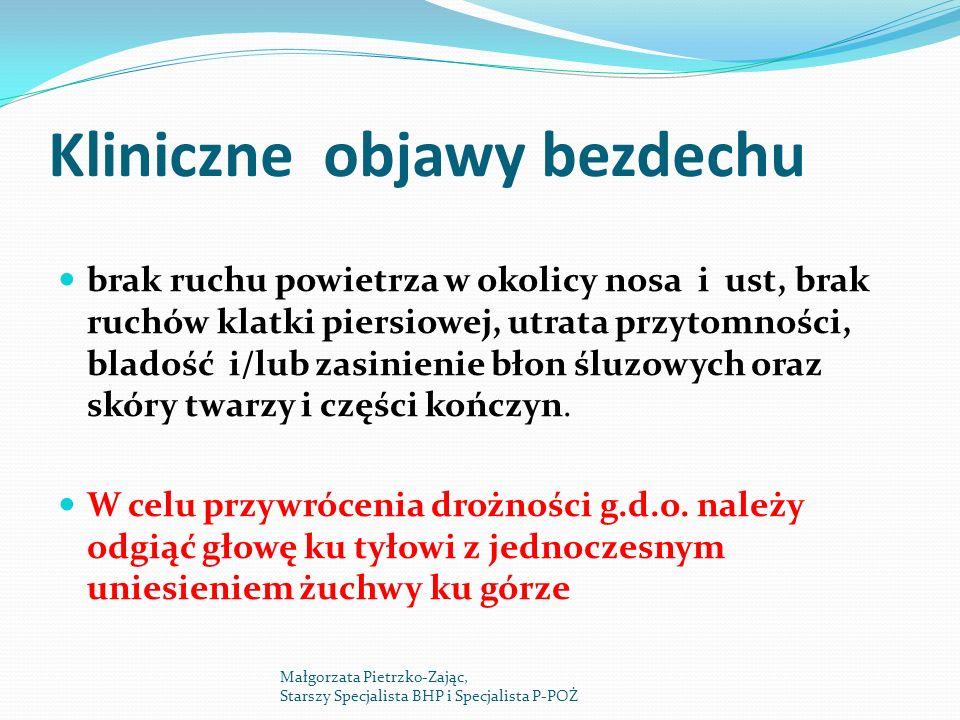 Kliniczne objawy bezdechu