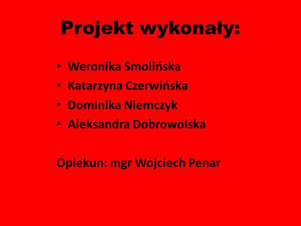 Projekt wykonały: Weronika Smolińska Katarzyna Czerwińska