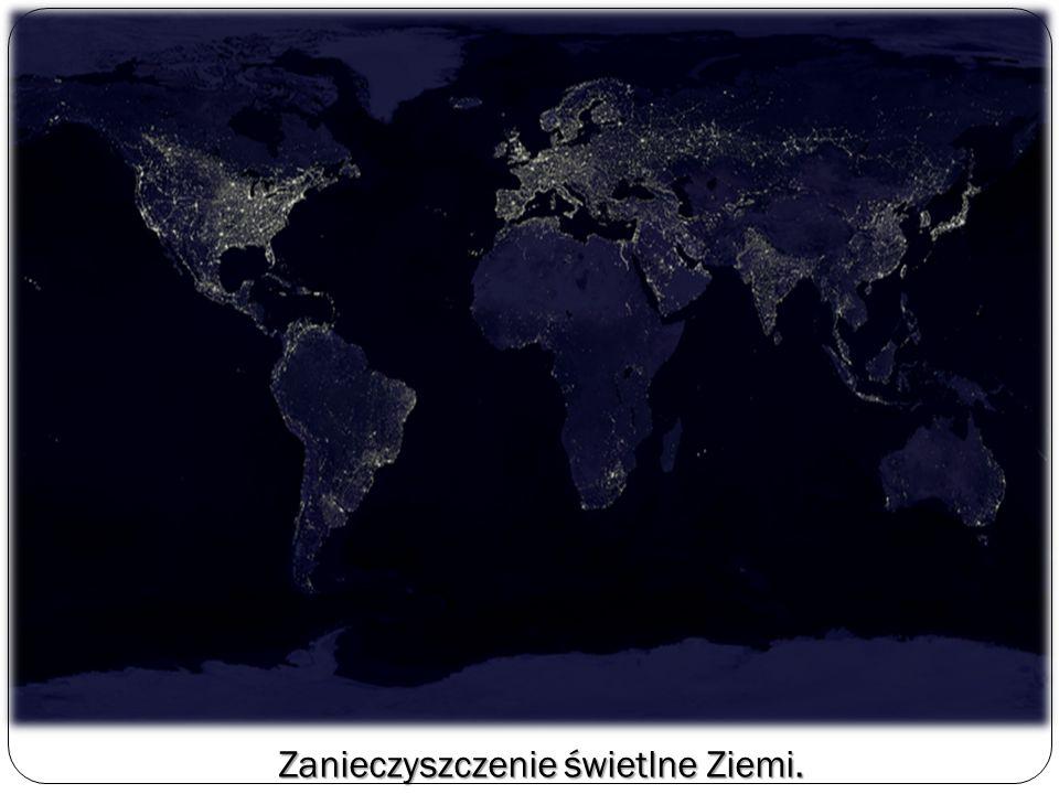 Zanieczyszczenie świetlne Ziemi.