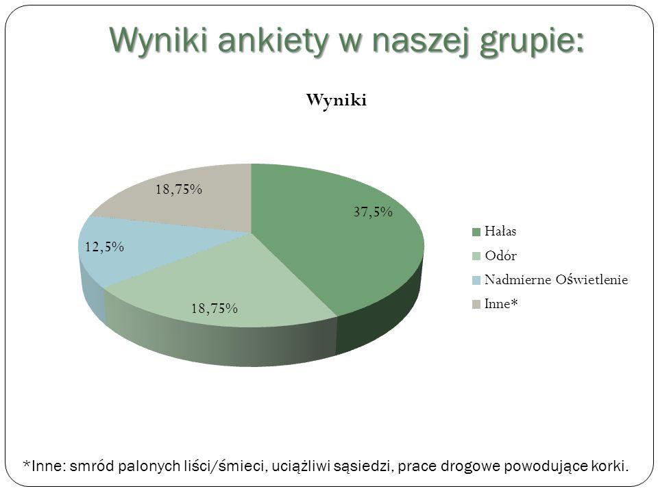 Wyniki ankiety w naszej grupie: