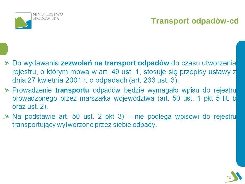 Transport odpadów-cd
