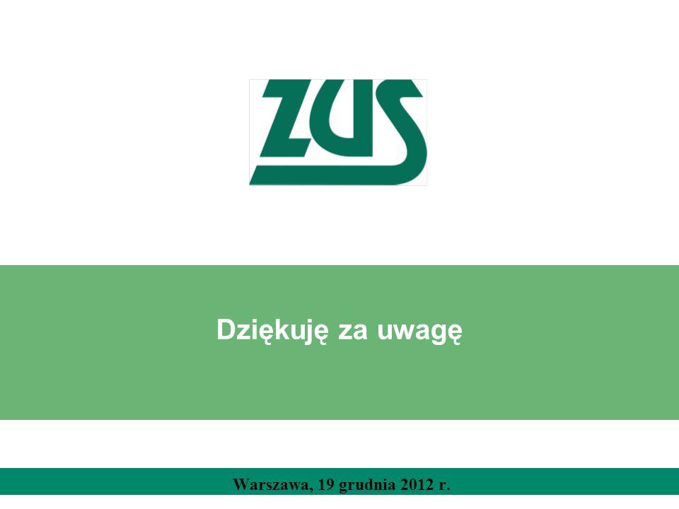 Dziękuję za uwagę Radek Warszawa, 19 grudnia 2012 r.