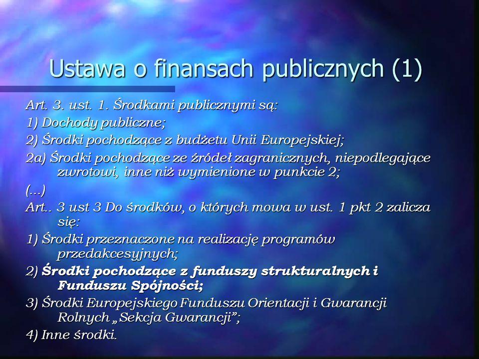 Ustawa o finansach publicznych (1)