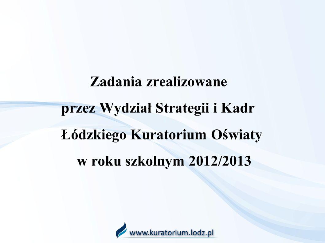 Zadania zrealizowane. przez Wydział Strategii i Kadr