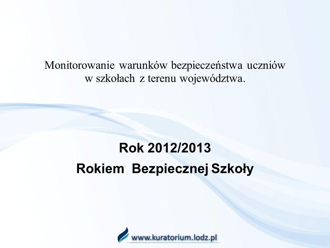 Rok 2012/2013 Rokiem Bezpiecznej Szkoły