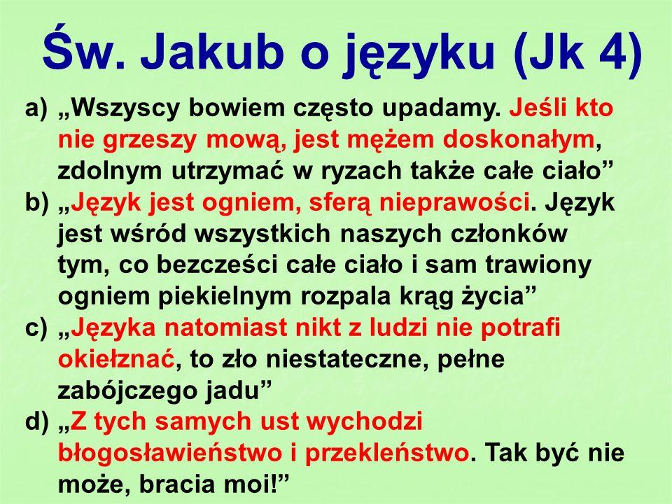 Św. Jakub o języku (Jk 4)