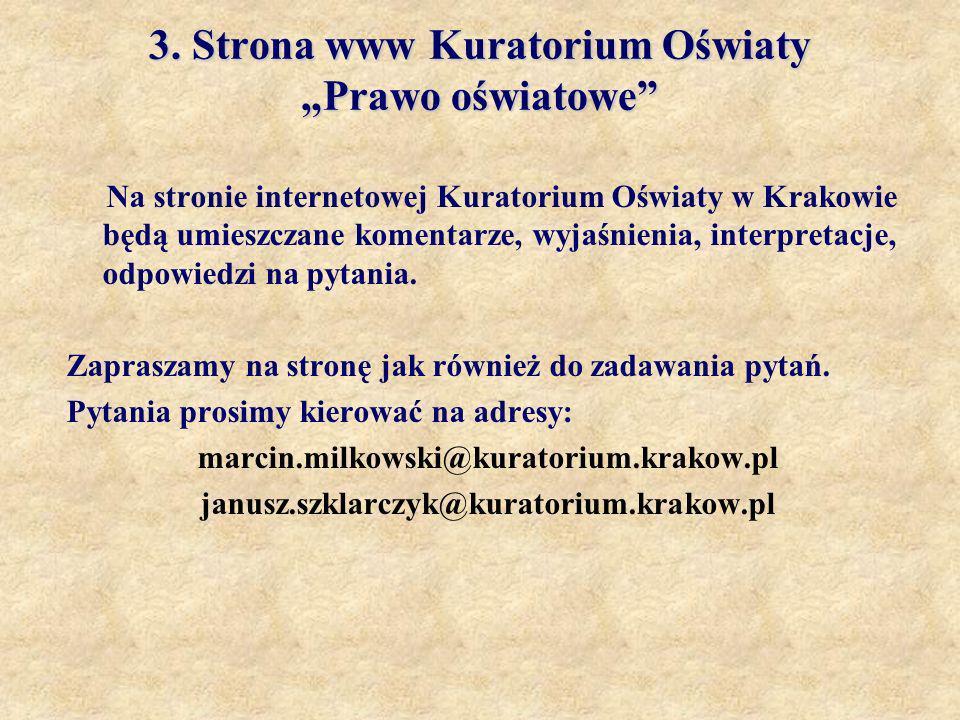 """3. Strona www Kuratorium Oświaty """"Prawo oświatowe"""