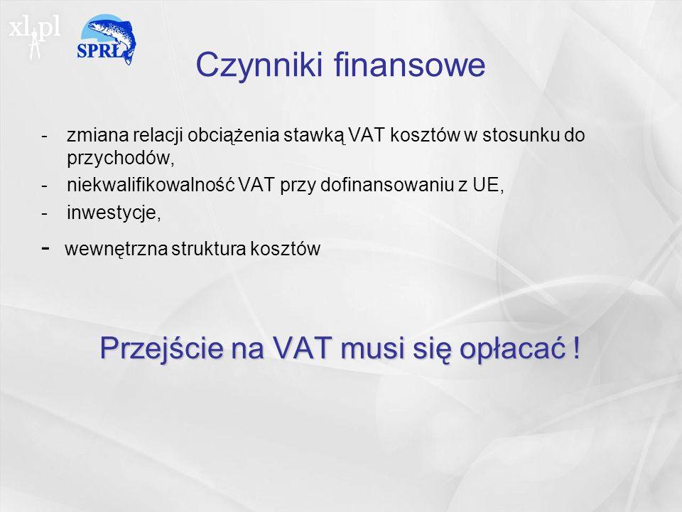 Przejście na VAT musi się opłacać !
