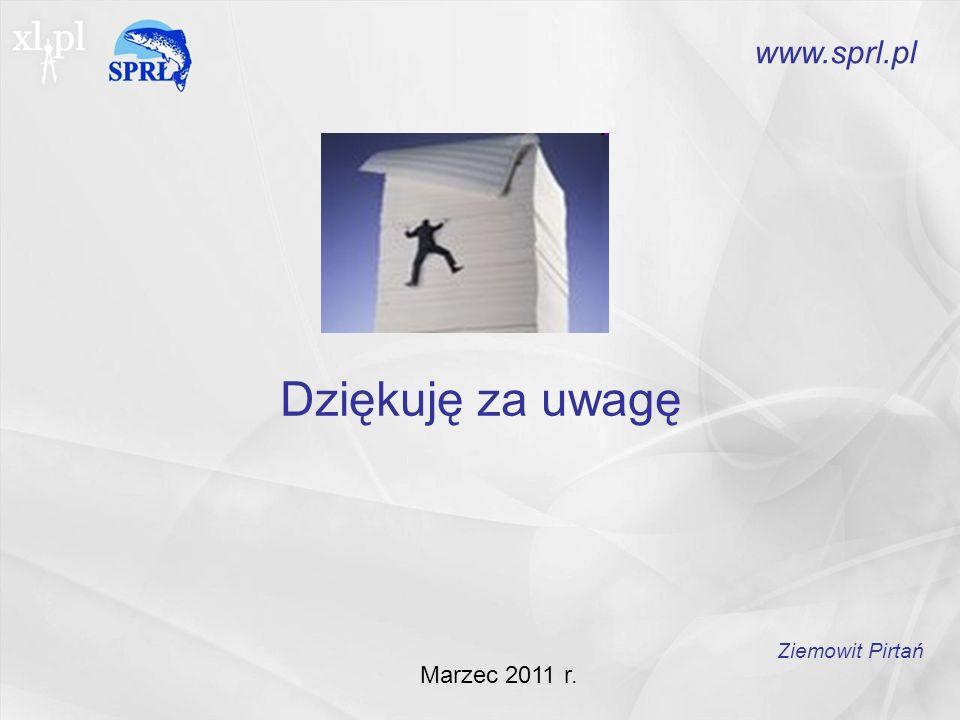www.sprl.pl Dziękuję za uwagę Ziemowit Pirtań Marzec 2011 r.