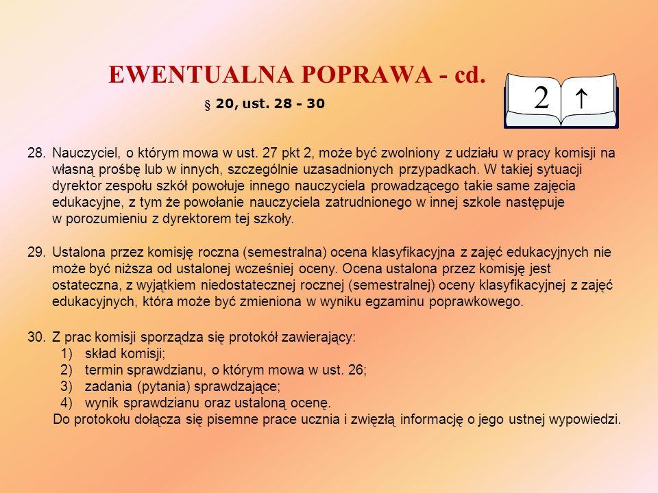 EWENTUALNA POPRAWA - cd.