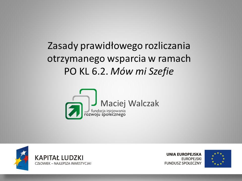 Szkolenie dla BP 30/11 - 01/12/2011 Maciej Walczak