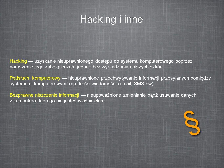 Hacking i inne