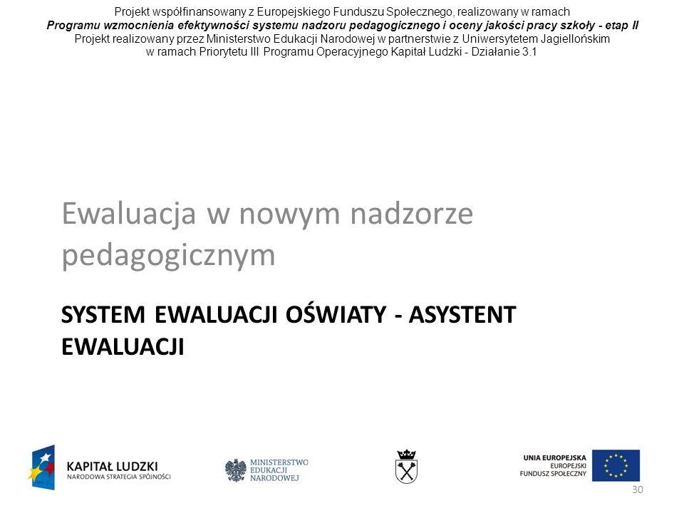 System ewaluacji oświaty - Asystent ewaluacji