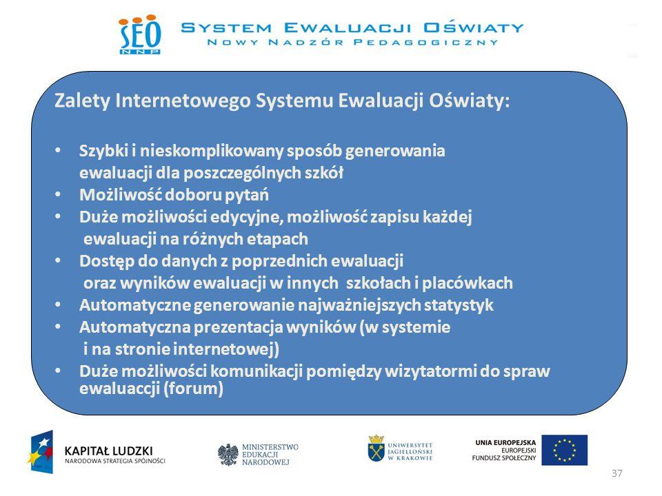 Zalety Internetowego Systemu Ewaluacji Oświaty: