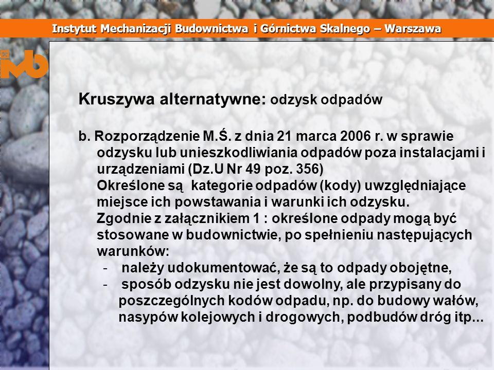 Instytut Mechanizacji Budownictwa i Górnictwa Skalnego – Warszawa