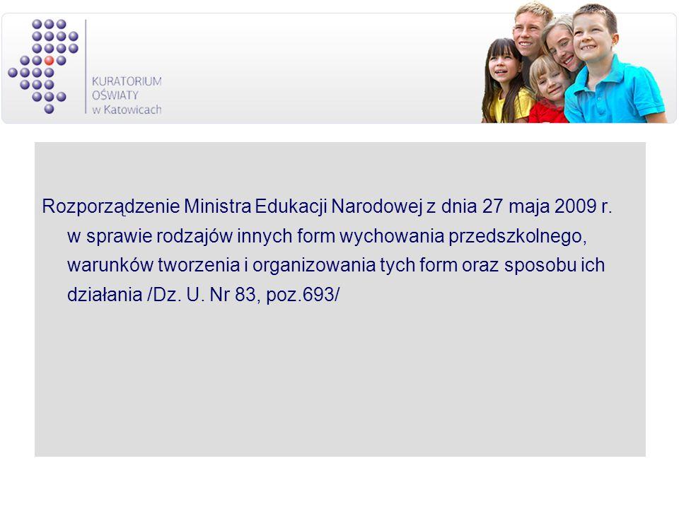 Rozporządzenie Ministra Edukacji Narodowej z dnia 27 maja 2009 r