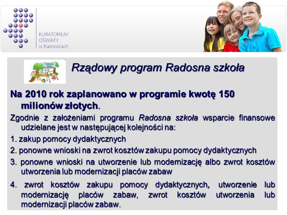 Rządowy program Radosna szkoła