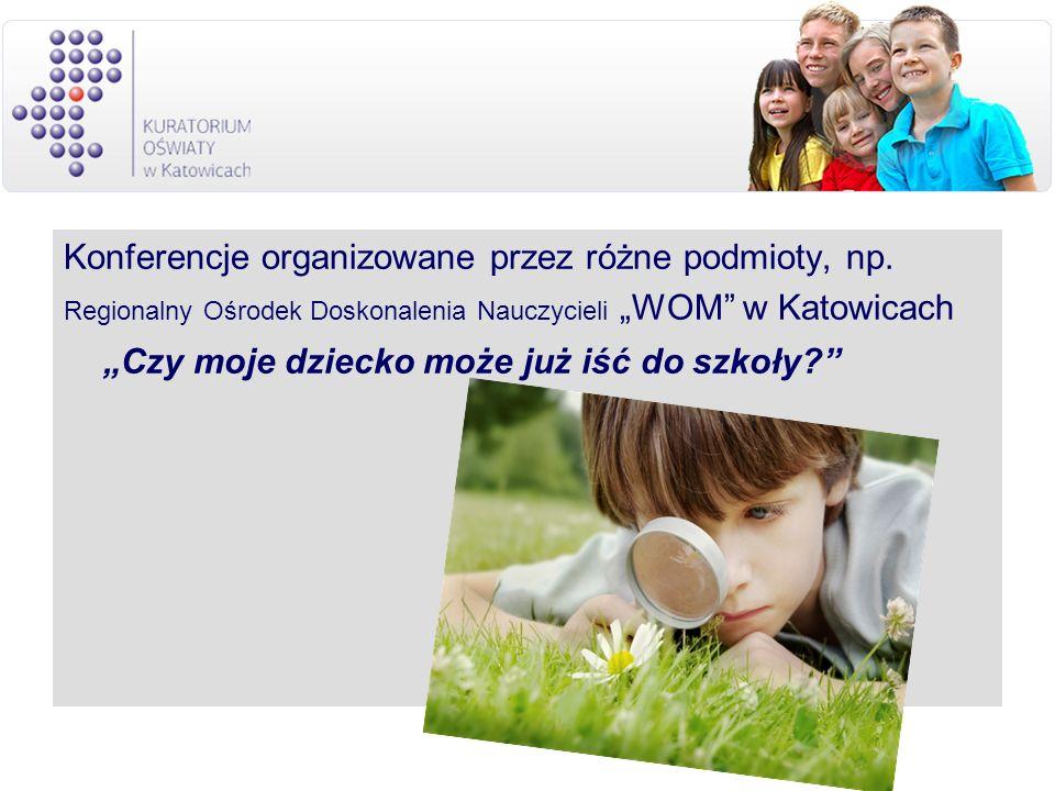 Konferencje organizowane przez różne podmioty, np.