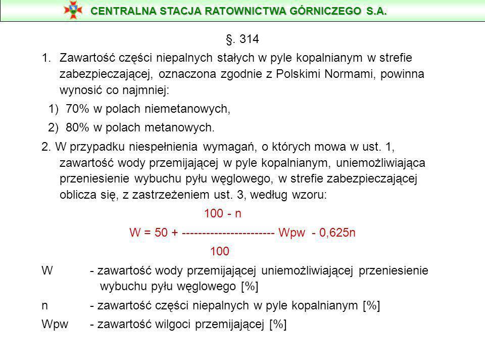 W = 50 + ----------------------- Wpw - 0,625n