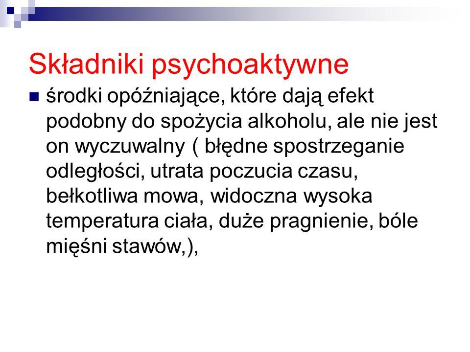 Składniki psychoaktywne