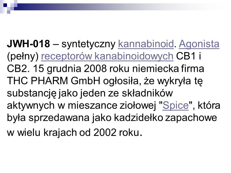 JWH-018 – syntetyczny kannabinoid