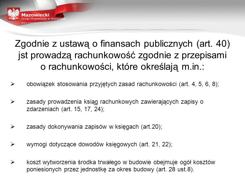 Zgodnie z ustawą o finansach publicznych (art