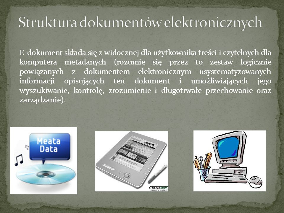 Struktura dokumentów elektronicznych