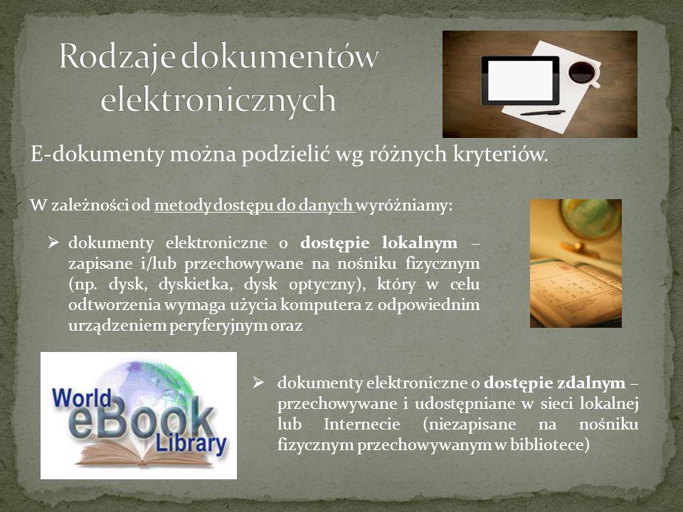 Rodzaje dokumentów elektronicznych