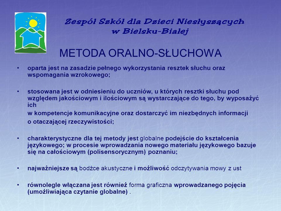METODA ORALNO-SŁUCHOWA