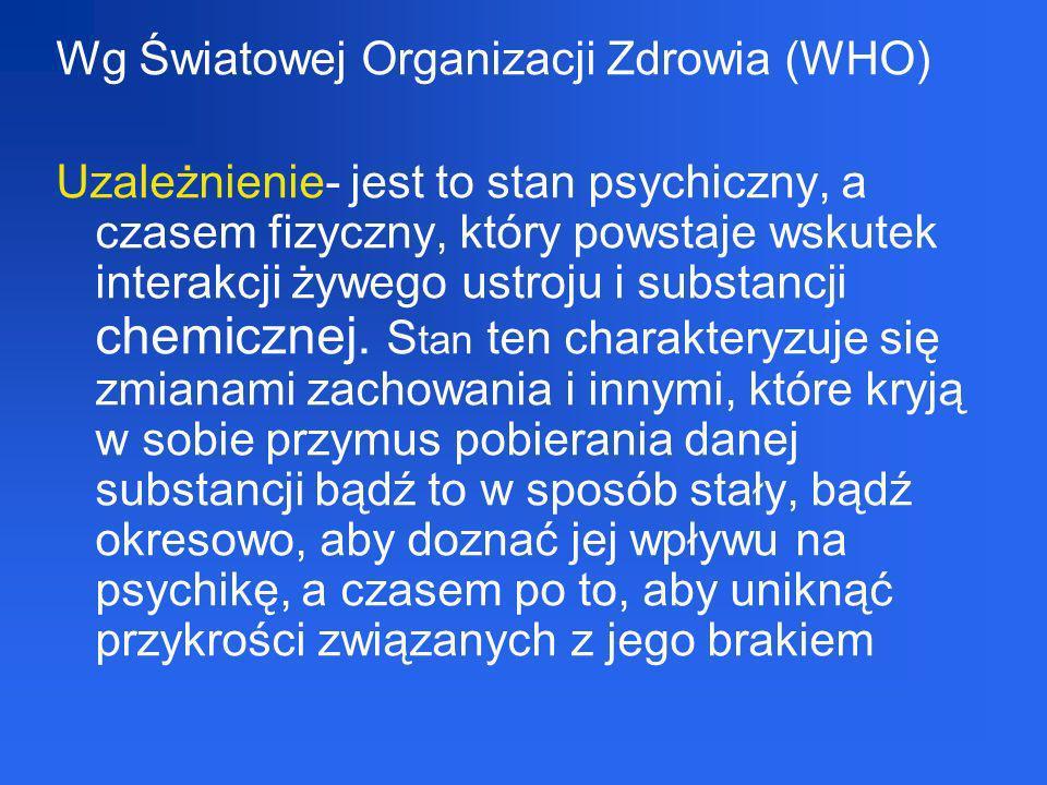 Wg Światowej Organizacji Zdrowia (WHO)