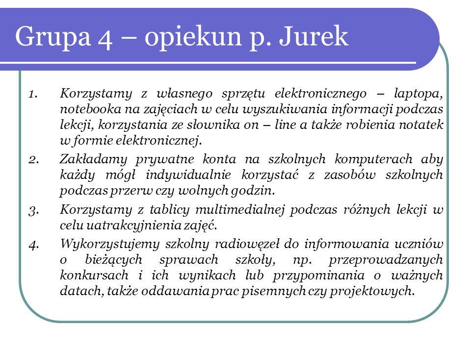 Grupa 4 – opiekun p. Jurek