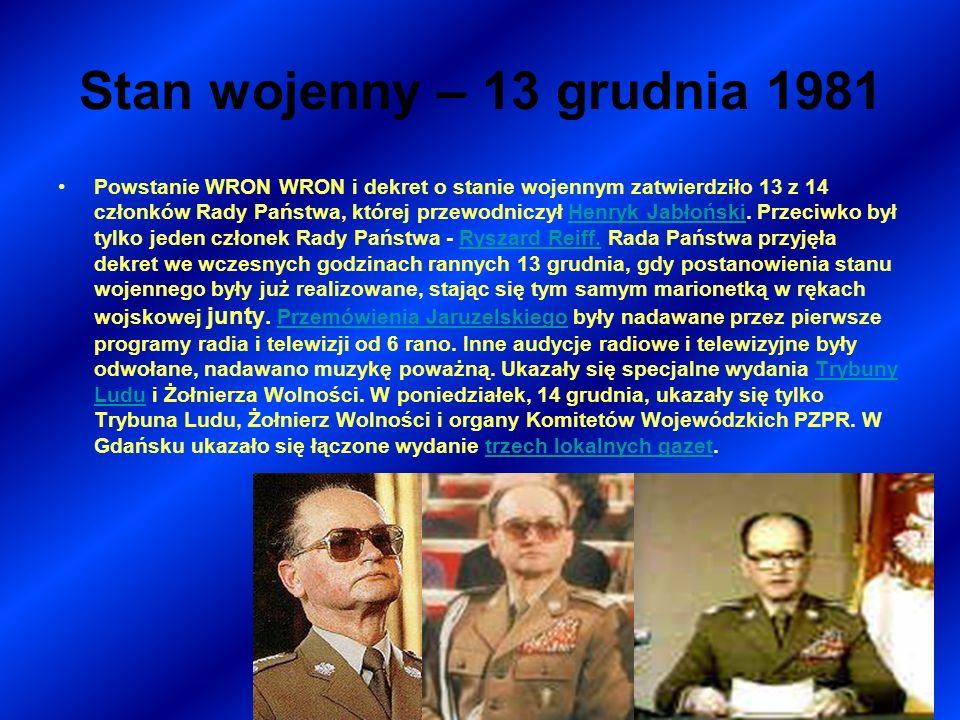 Stan wojenny – 13 grudnia 1981