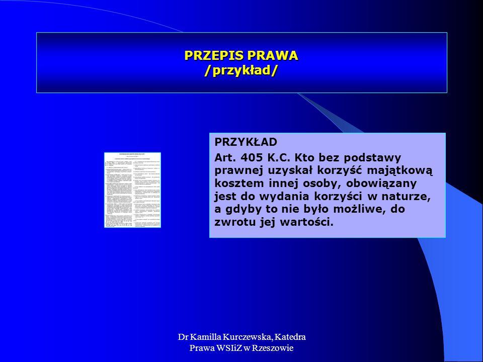 PRZEPIS PRAWA /przykład/