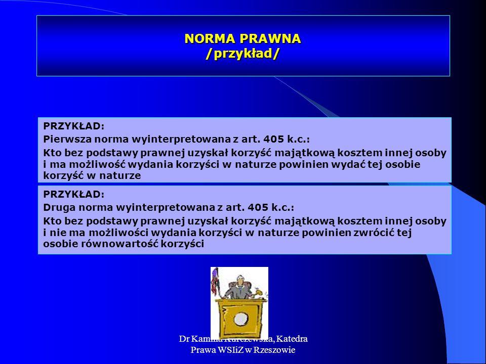 NORMA PRAWNA /przykład/