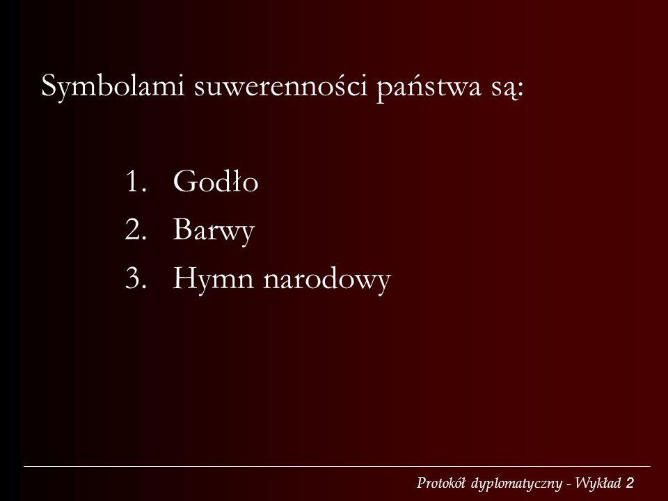 Symbolami suwerenności państwa są: