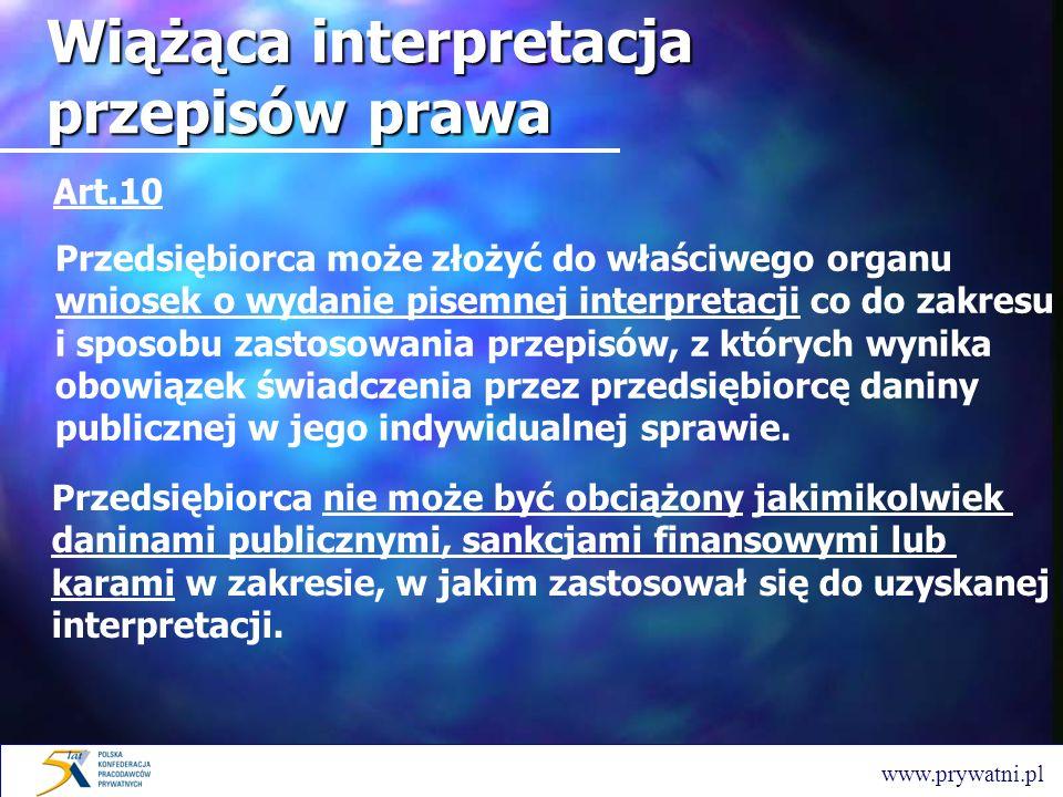 Wiążąca interpretacja przepisów prawa