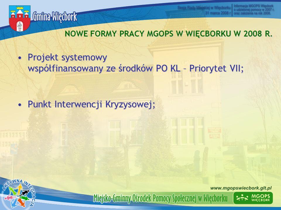 NOWE FORMY PRACY MGOPS W WIĘCBORKU W 2008 R.