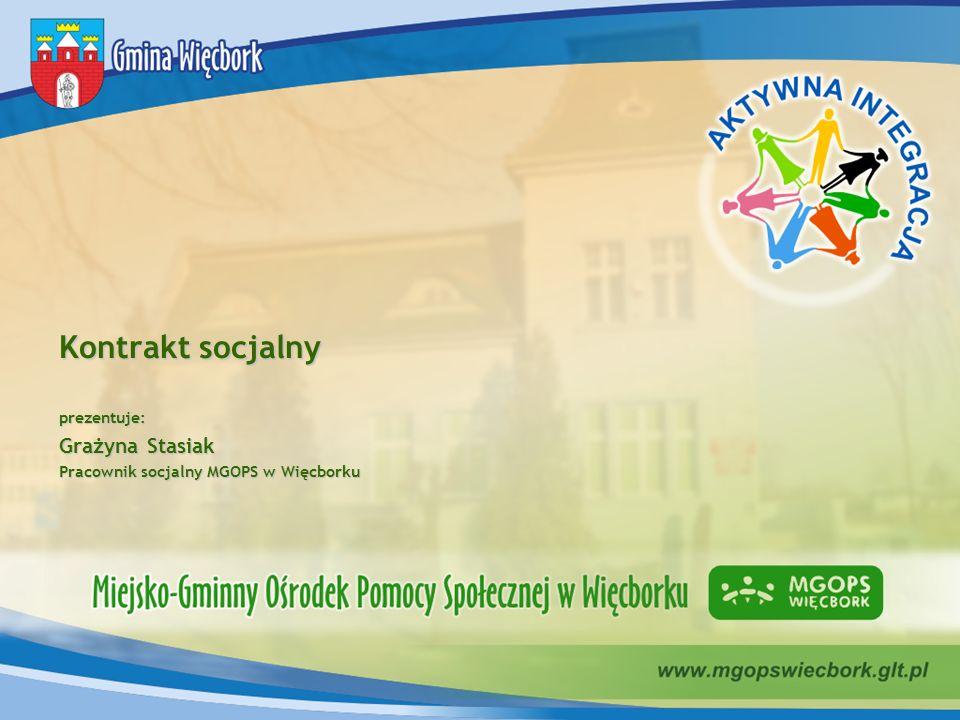 Kontrakt socjalny Grażyna Stasiak prezentuje: