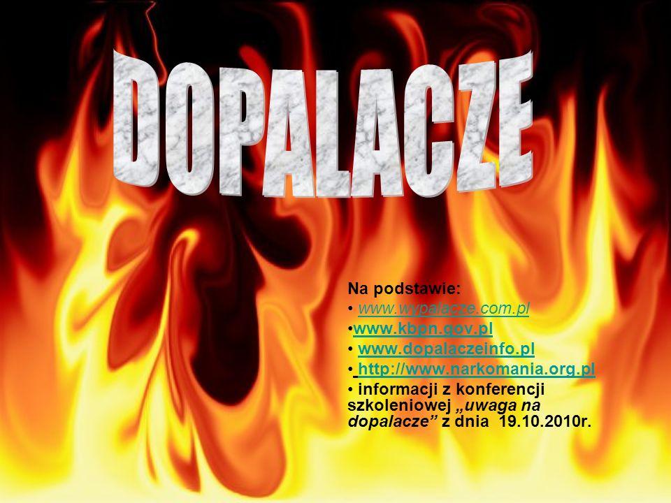 DOPALACZE Na podstawie: www.wypalacze.com.pl www.kbpn.gov.pl