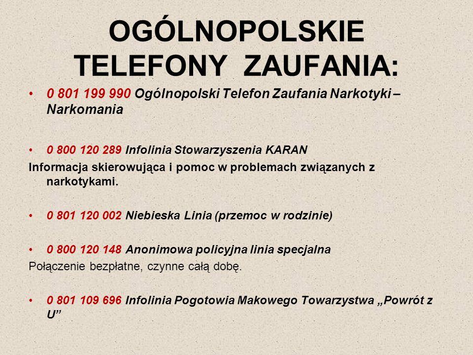 OGÓLNOPOLSKIE TELEFONY ZAUFANIA: