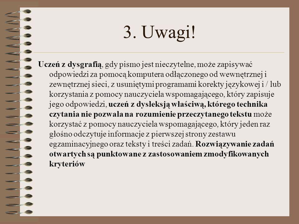 3. Uwagi!