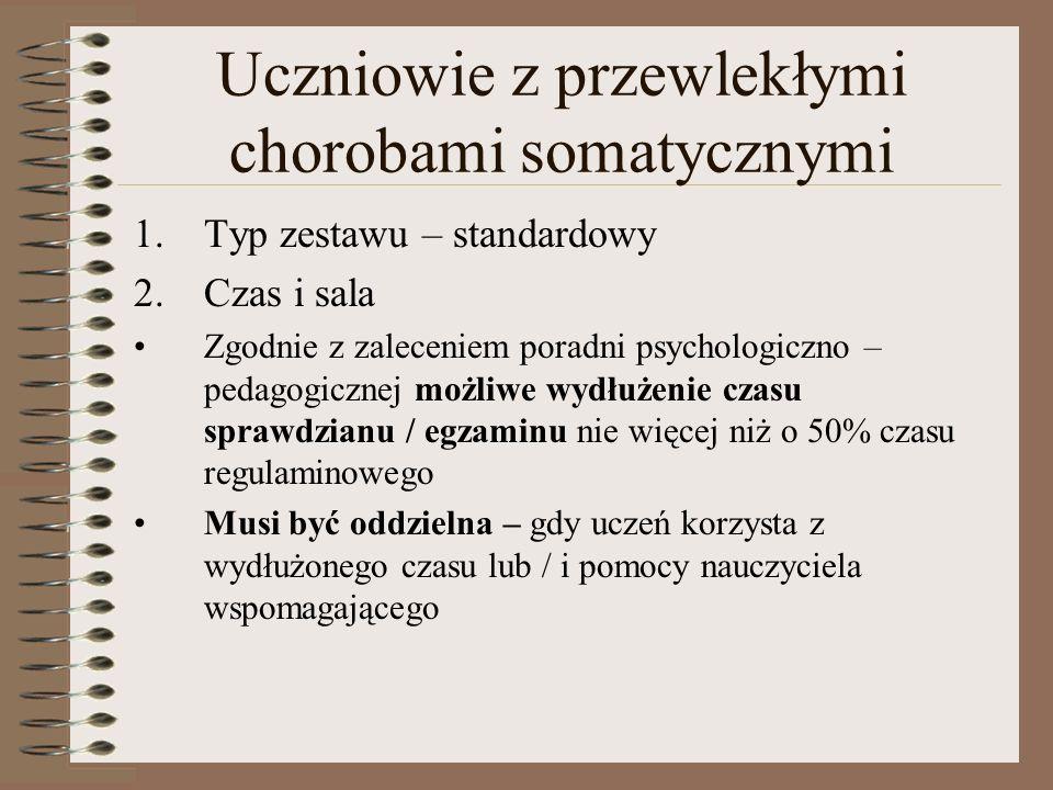Uczniowie z przewlekłymi chorobami somatycznymi