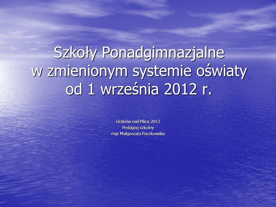 Grabów nad Pilica 2013 Pedagog szkolny mgr Małgorzata Paczkowska