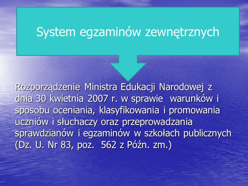 System egzaminów zewnętrznych