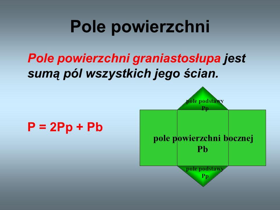 pole powierzchni bocznej Pb