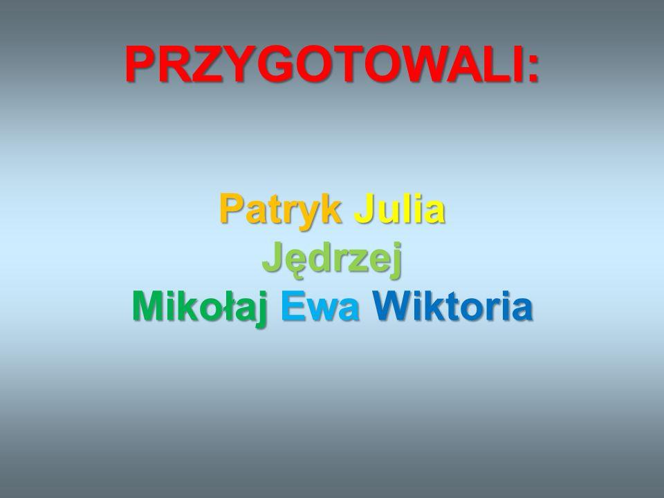 Patryk Julia Jędrzej Mikołaj Ewa Wiktoria