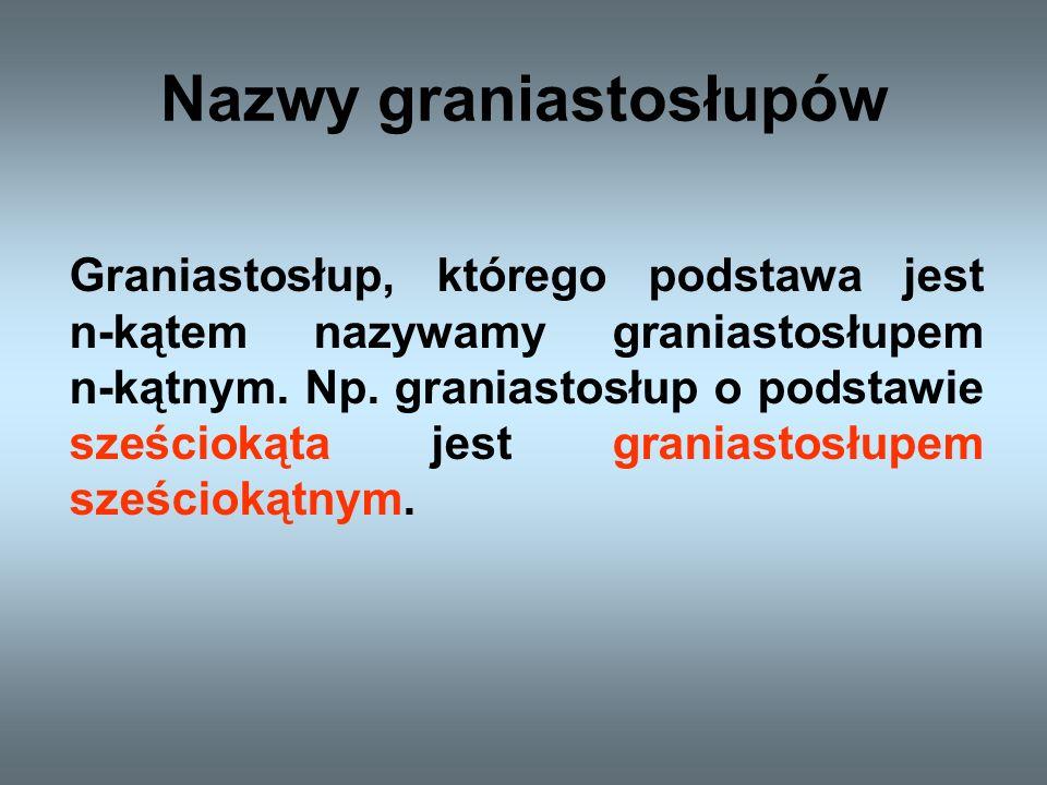 Nazwy graniastosłupów